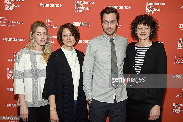 Producers Sara Murphy Adele Romanski Martin Heisler and Gabriele Simon attend the Morris From America Premiere during the 2016 Sundance Film Festival...
