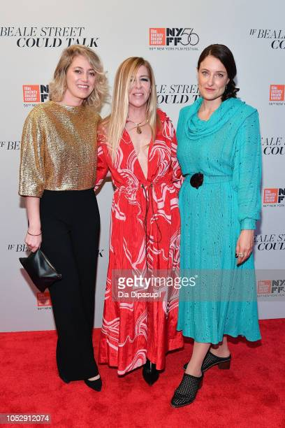 Producers Sara Murphy Dede Gardner and Adele Romanski attend the US premiere of 'If Beale Street Could Talk' during the 56th New York Film Festival...