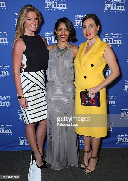 Producers Sarah Arison actress Freida Pinto and producer Fabiola Beracasa attend the 30th Santa Barbara International Film Festival Opening...