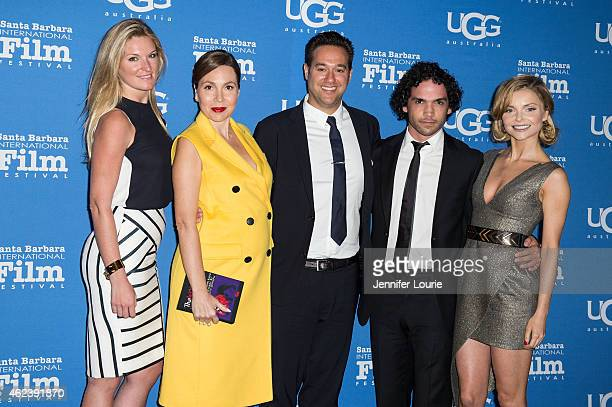 Producers Sarah Arison Fabiola Beracasa director Richard Raymond actors Reece Ritchie and Izabella Miko attend the Opening Night of the 30th Santa...