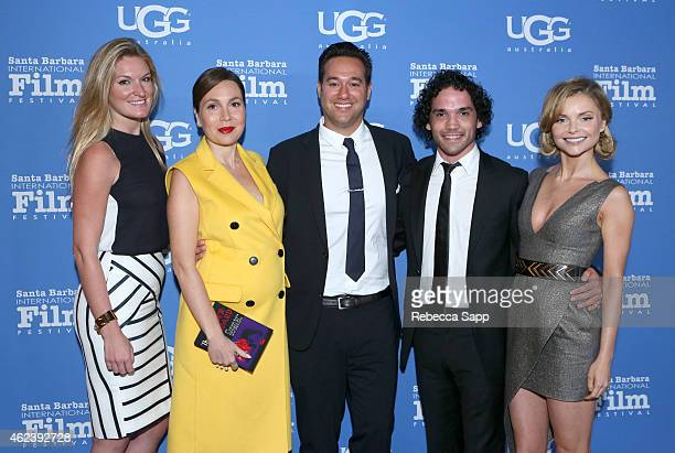 Producers Sarah Arison Fabiola Beracasa director Richard Raymond actors Reece Ritchie and Izabella Miko attend the 30th Santa Barbara International...