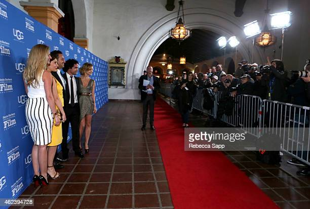 Producers Sarah Arison Fabiola Beracasa director Richard Raymond actors Reece Ritchie and Izabella Miko attend the 30th Santa Barbara International...
