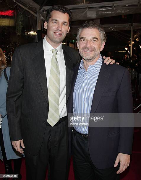 Producers Scott Stuber and Charles Castaldi arrive at the premiere of Universal's Welcome Home Roscoe Jenkins at the Chinese Theater on January 28...