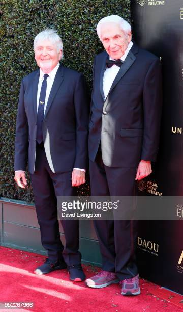 Producers Sid Krofft and Marty Krofft attend the 45th Annual Daytime Creative Arts Emmy Awards at Pasadena Civic Auditorium on April 27 2018 in...