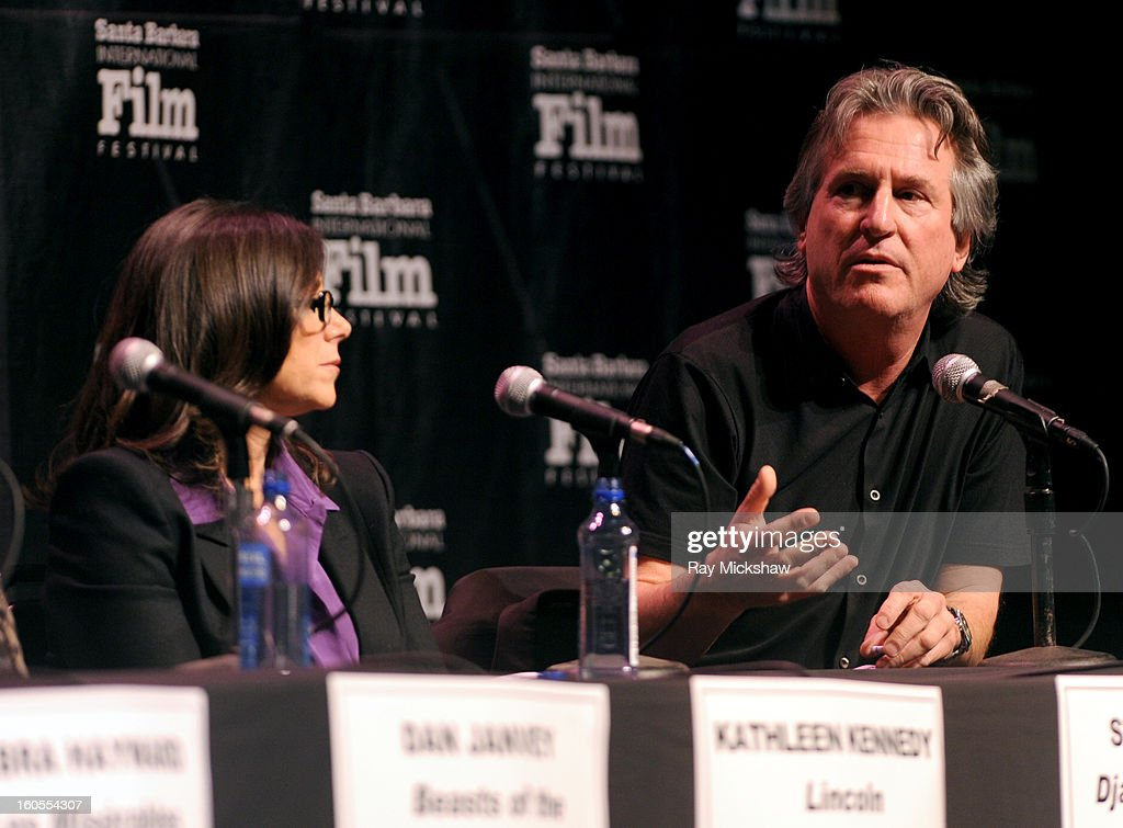 Producers Stacey Sher and David Womak attend the 28th Santa Barbara International Film Festival Producers Panel on February 1, 2013 in Santa Barbara, California.
