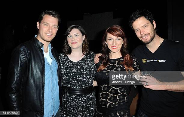 Producers Stephanie Thorpe and Kristin Nedopak at the InfoList PreOscar Soiree And Birthday Party for Jeff Gund held at OHM Nightclub on February 18...