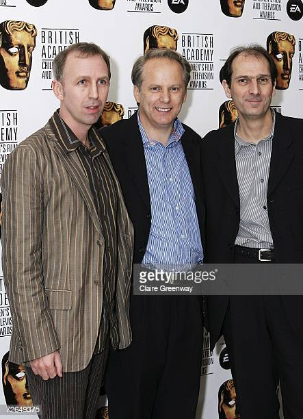 Producers Steve Box Nick Park and Peter Lord arrive at the 11th British Academy Children's Film Television Awards at the Park Lane Hilton hotel on...
