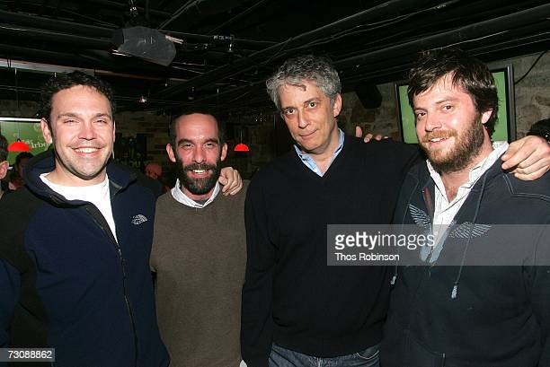 Producers Tai Duncan Mickey Barold Paul Schiff and Stone Douglass at the Airborne Lounge with Extra during the 2007 Sundance Film Festival on January...