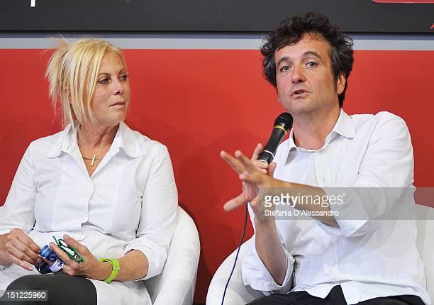 Producers Tiziana Soudani and Carlo CrestoDina attend the UKItaly Creative Industries Award during the 69th Venice Film Festival on September 4 2012...