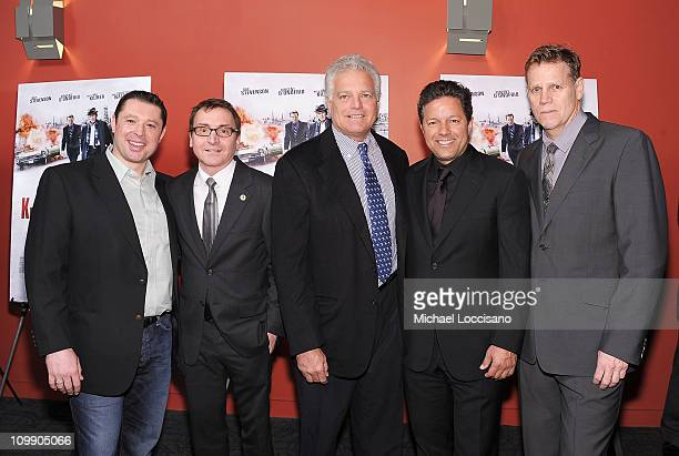 Producers Tommy Reid Bart Rosenblatt Eugene Musso guest and Al Corley attend the premiere of 'Kill the Irishman' at Landmark's Sunshine Cinema on...