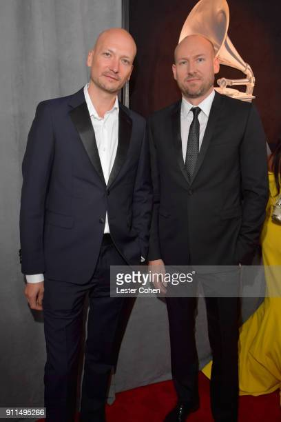 Producers Tor Hermansen and Mikkel Erikksen attend the 60th Annual GRAMMY Awards at Madison Square Garden on January 28 2018 in New York City