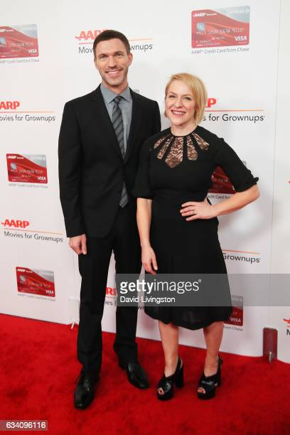 Producers Travis Knight and Arianne Sutner attend the AARP's 16th Annual Movies for Grownups Awards at the Beverly Wilshire Four Seasons Hotel on...