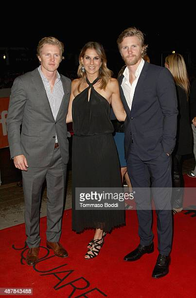 Producers Trent Luckinbill Molly Smith and Thad Luckinbull attend the Sicario premiere during the 2015 Toronto International Film Festival at...