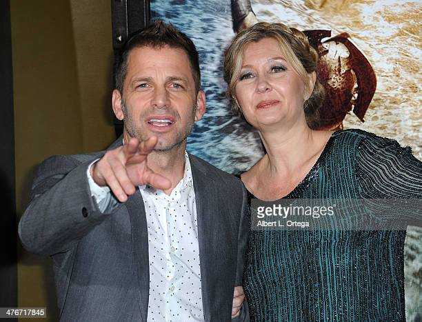 Producers Zack Snyder and Deborah Snyder arrive for the Premiere Of Warner Bros Pictures And Legendary Pictures' '300 Rise Of An Empire' held at TCL...
