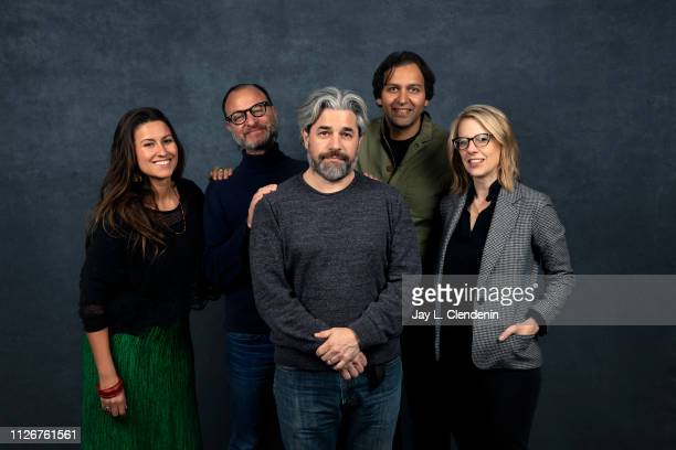 Producers Zara Duffy Fisher Stevens director Ross Kauffman subject Amit Sankhala and Xan Parker from 'Tigerland' are photographed for Los Angeles...
