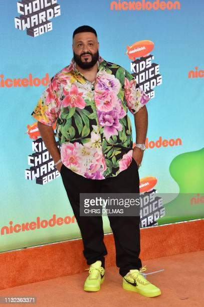Producer/songwriter DJ Khaled arrives for the 32nd Annual Nickelodeon Kids' Choice Awards at the USC Galen Center on March 23 2019 in Los Angeles