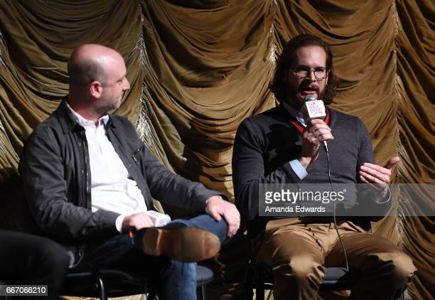Producers/showrunners Michael Green and Bryan Fuller attend the Film Independent at LACMA special screening and QA of 'American Gods' at the Bing...