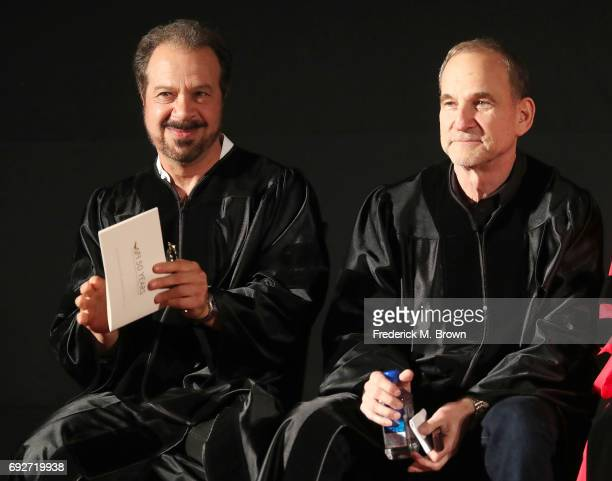 Producers/Writers/Directors Edward Zwick and Marshall Herskovitz speak during AFI's Conservatory Commencement Ceremony at the TCL Chinese Theatre on...