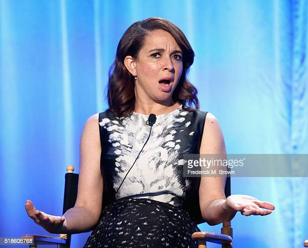 Producer/TV personality Maya Rudolph speaks onstage during the 'Maya Marty' panel at the 2016 NBCUniversal Summer Press Day at Four Seasons Hotel...