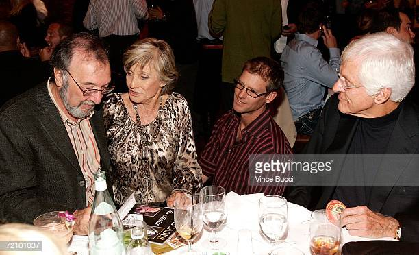 Producer/Writer James L Brooks Actress Cloris Leachman Actor Morgan Englund and Actor Dick Van Dyke talk at the celebration for Cloris Leachman's 60...