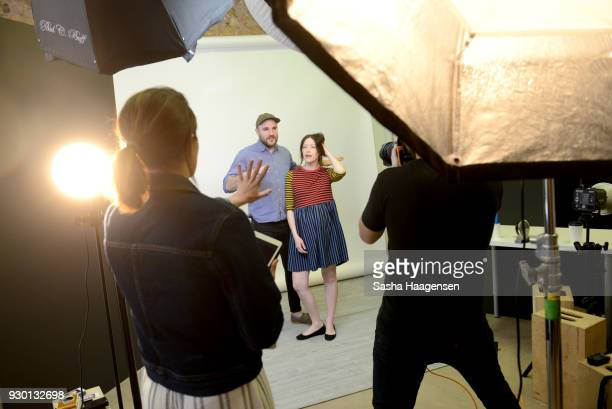 Producer/Writer Jordan Horowitz and Director/Writer Julia Hart from the film Fast Color pose for a portrait at the Pizza Hut Lounge at the 2018 SXSW...