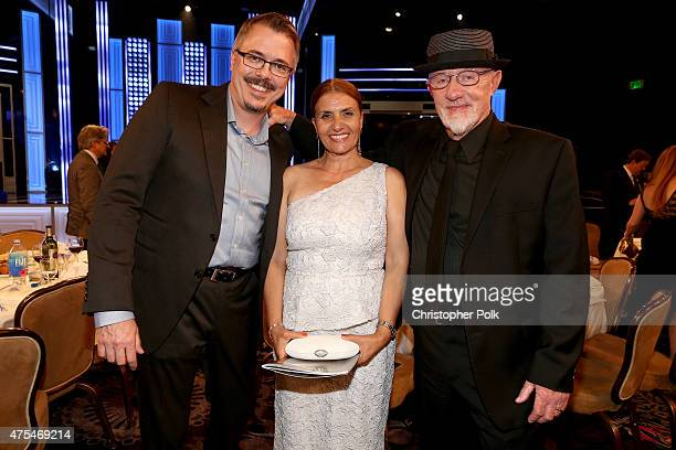 Producer/writer Vince Gilligan Gennera Banks and actor Jonathan Banks attend the 5th Annual Critics' Choice Television Awards at The Beverly Hilton...