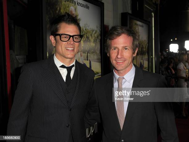Producer/writer/actor Johnny Knoxville writer/ producer Spike Jonze arrive at the premiere of Paramount Pictures' 'Jackass Presents Bad Grandpa' at...