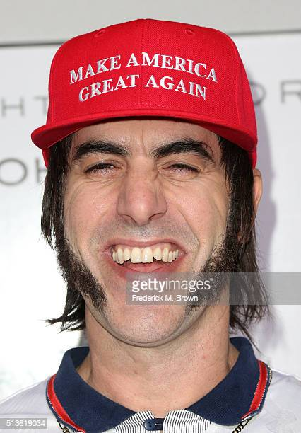 """Producer/writer/actor Sacha Baron Cohen attends the premiere of Columbia Pictures and Village Roadshow Pictures """"The Brothers Grimsby"""" at Regency..."""