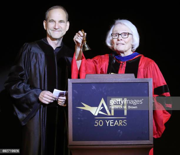 Producer/Writer/Director Marshall Herskovitz and Jean Picker Firstenberg speak during AFI's Conservatory Commencement Ceremony at the TCL Chinese...