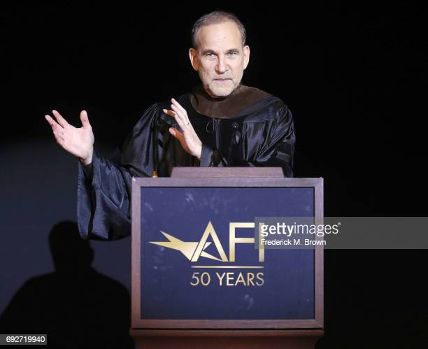 Producer/Writer/Director Marshall Herskovitz speaks during AFI's Conservatory Commencement Ceremony at the TCL Chinese Theatre on June 5 2017 in...