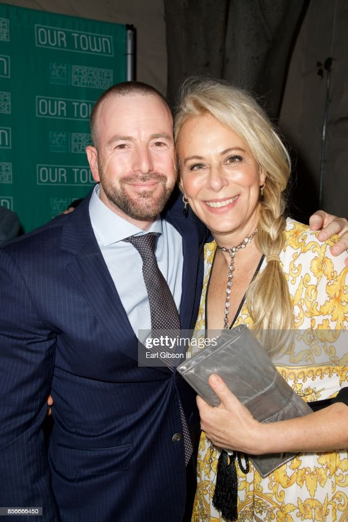 Producing Artistic Director Danny Feldman and actress Jane Kaczmarek attend the Pasadena Playhouse And Deaf West Theatre's 'Our Town' Opening Night at Pasadena Playhouse on October 1, 2017 in Pasadena, California.