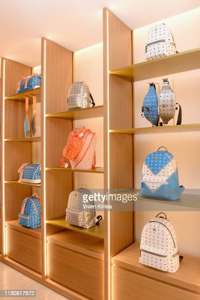 MCM product on display during the MCM Rodeo Drive Store Grand Opening Event at MCM Rodeo Drive on March 14 2019 in Beverly Hills California
