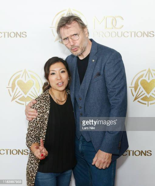 Productiions founder Meagan Celeste and actor Liam Neeson attend the MDC Productions' 3rd Annual Face Off to Fight Cancer at the Sky Rink at Chelsea...