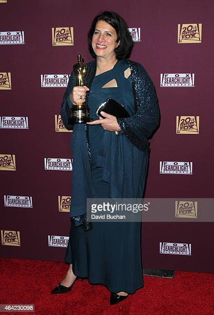 Production Designer Anna Pinnock attends the 21st Century Fox and Fox Searchlight Oscar Party at BOA Steakhouse on February 22 2015 in West Hollywood...