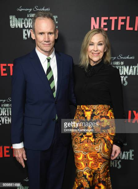 Production Designer Bo Welch and Actor Catherine O'Hara attends the Netflix Premiere of A Series of Unfortunate Events Season 2 on March 29 2018 in...