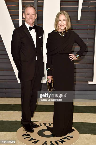 Production designer Bo Welch and actress Catherine O'Hara attend the 2015 Vanity Fair Oscar Party hosted by Graydon Carter at Wallis Annenberg Center...