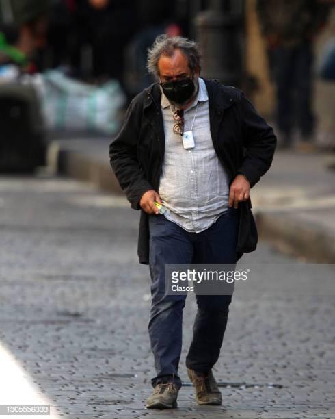 Production designer Eugenio Caballero is seen on the set of Alejandro González Iñárritu's new film tentatively titled 'Limbo' on March 5, 2021 in...