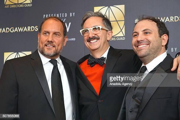 Production Designer Greg J Grande set decorator Peter M Gurski and art director Bryan Langer attend Art Directors Guild 20th Annual Excellence in...