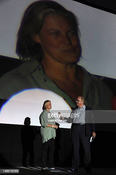 Production designer Jane Musky attends The Academy of Motion Picture Arts and Sciences' Oscars outdoors screening of Ghost on July 13 2012 in...