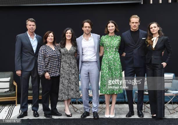 Production Designer Jon Gary Steele, Executive Producer/Writer Toni Graphia, Executive Producer Maril Davis, Richard Rankin, Caitriona Balfe, Sam...