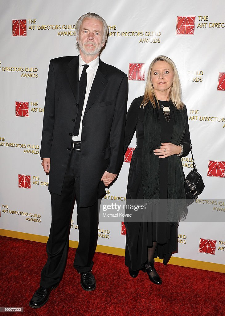 Production Designer Karl Juliusson (L) and Aslang Juliusson (R) attend the 14th Annual Art Directors Guild Awards at The Beverly Hilton Hotel on February 13, 2010 in Beverly Hills, California.