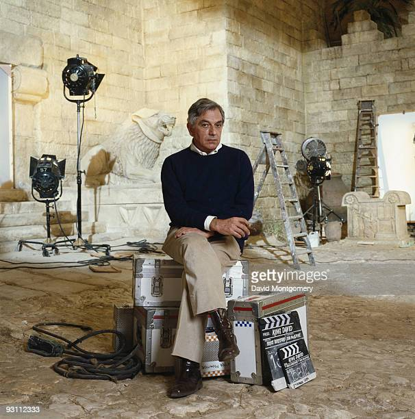 Production designer Ken Adam on the set of the biblical epic 'King David' 1985 Adam is best known for his work on the sets of several James Bond films