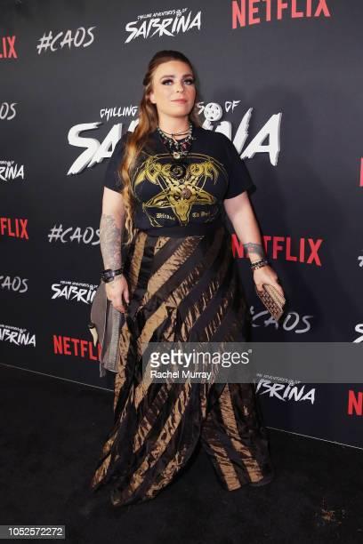 Production designer Lisa Soper attends Netflix Original Series Chilling Adventures of Sabrina red carpet and premiere event on October 19 2018 in Los...