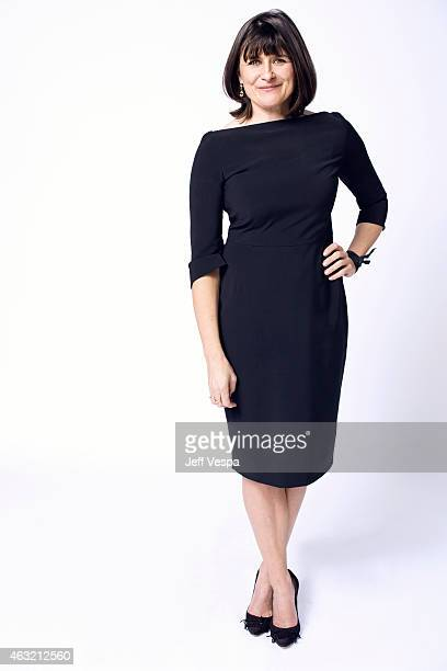 Production designer Maria Djurkovic poses for a portraits at the 87th Academy Awards Nominee Luncheon at the Beverly Hilton Hotel on February 2 2015...