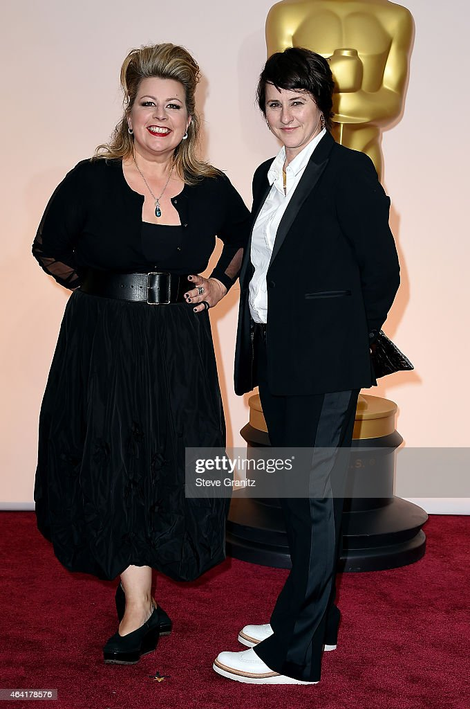 Production designer Suzie Davies (L) and set decorator Charlotte Watts attend the 87th Annual Academy Awards at Hollywood & Highland Center on February 22, 2015 in Hollywood, California.