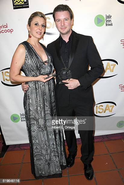 Production designers Barbara Caruso and Michael Caruso winners Best Production Design at the 7th Annual Indie Series Awards held at El Portal Theatre...