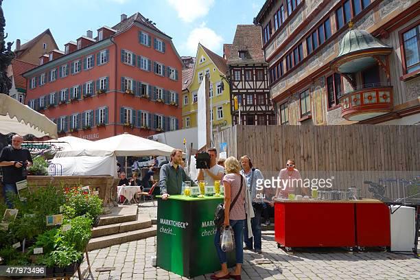 TV-Produktion vor mittelalterliche Rathaus Tübingen