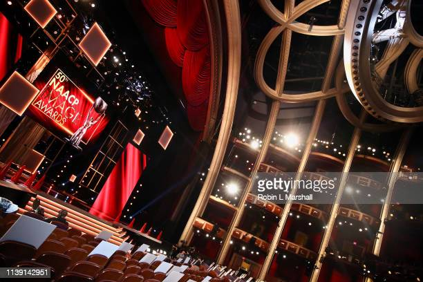 Production in process at the 50th NAACP Image Awards Behind The Scenes Press Day 2 at Dolby Theatre on March 29 2019 in Hollywood California
