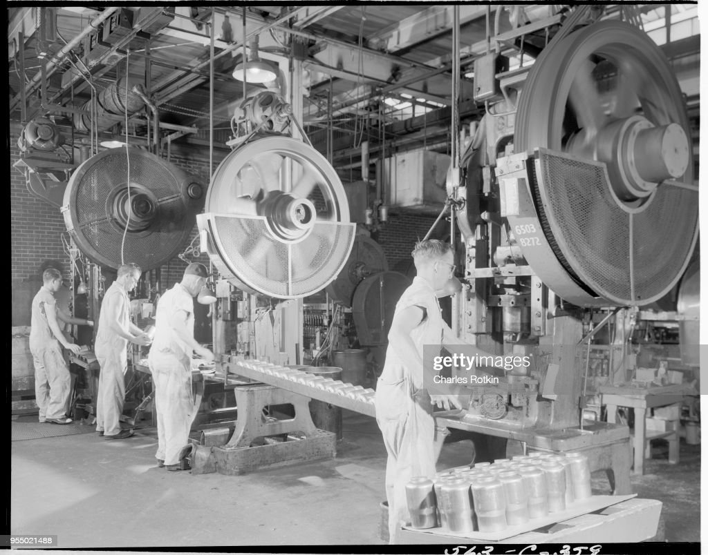 Production Line in a Brass Mill : News Photo