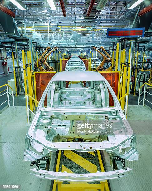 Production line in car factory